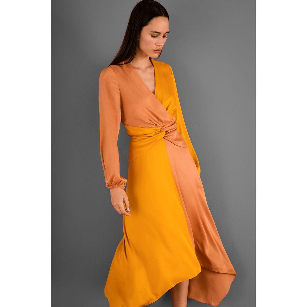 Vestido-Midi-Viscose-Bicolor---Amarelo-Camurca