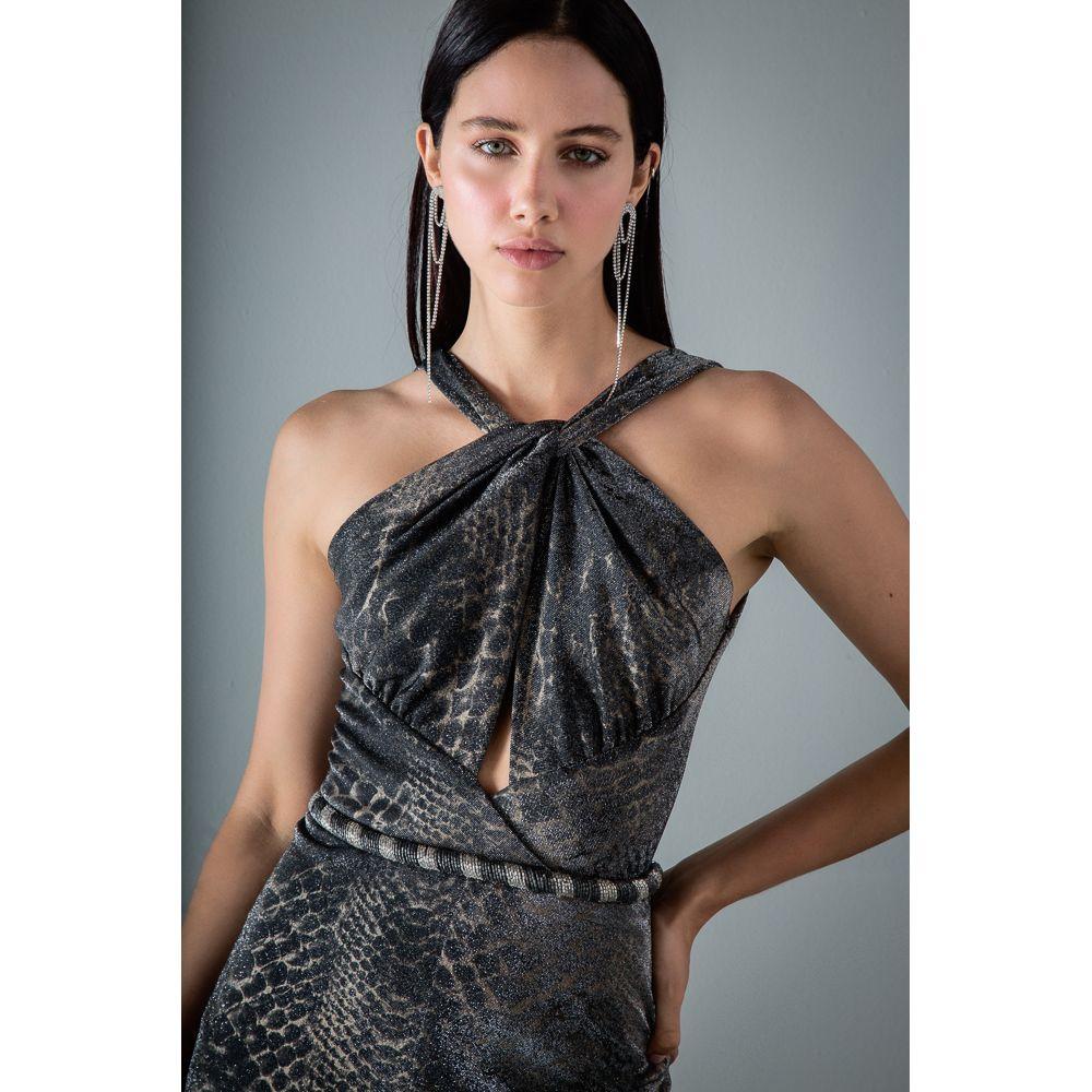 Vestido-Longo-Animal-Print---Prata