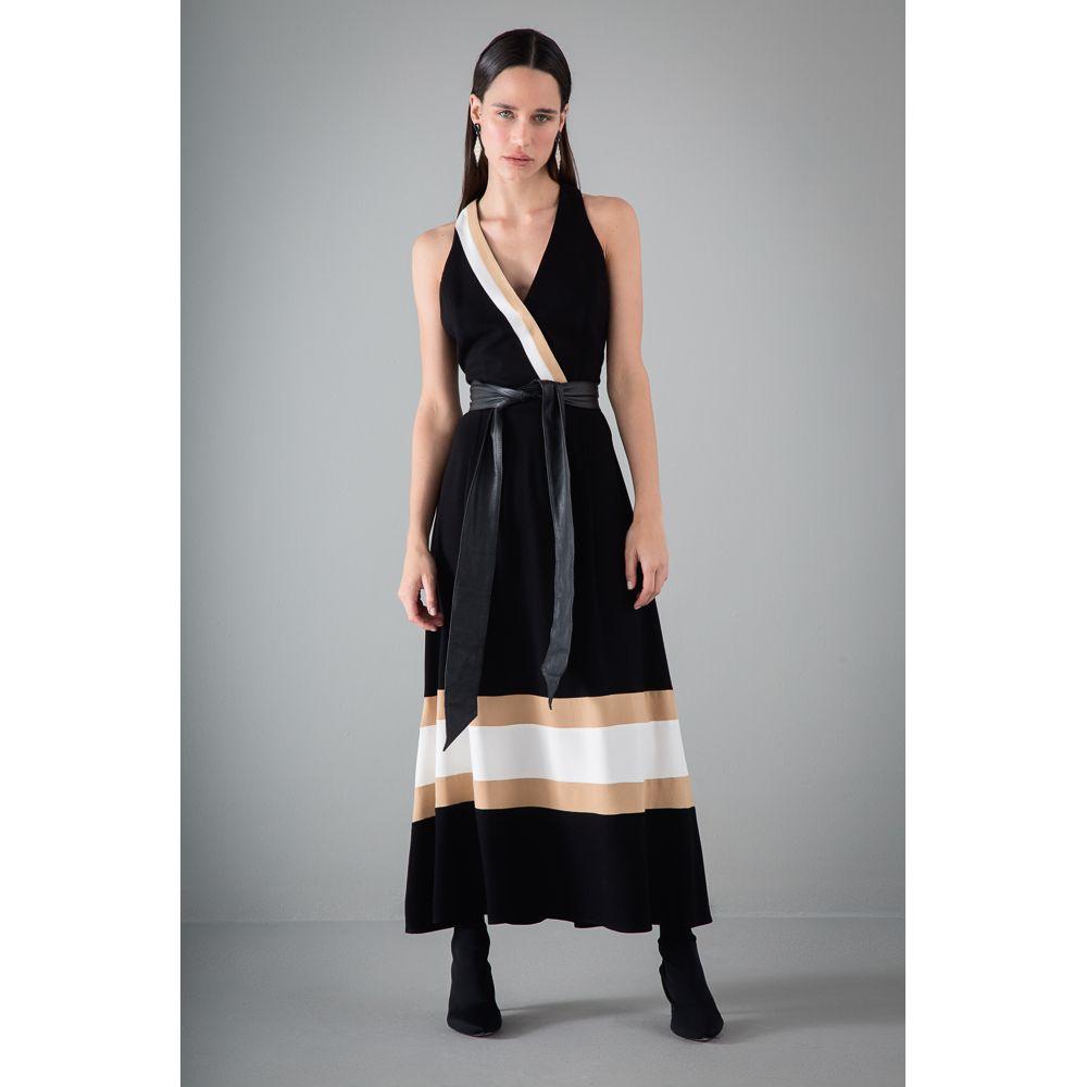 -Vestido-Viscose-Tricolor-Recortes---Preto-