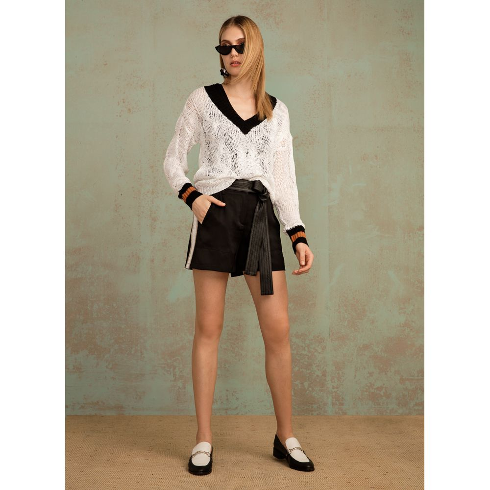 Blusa Tricot Sport Chic - Off White
