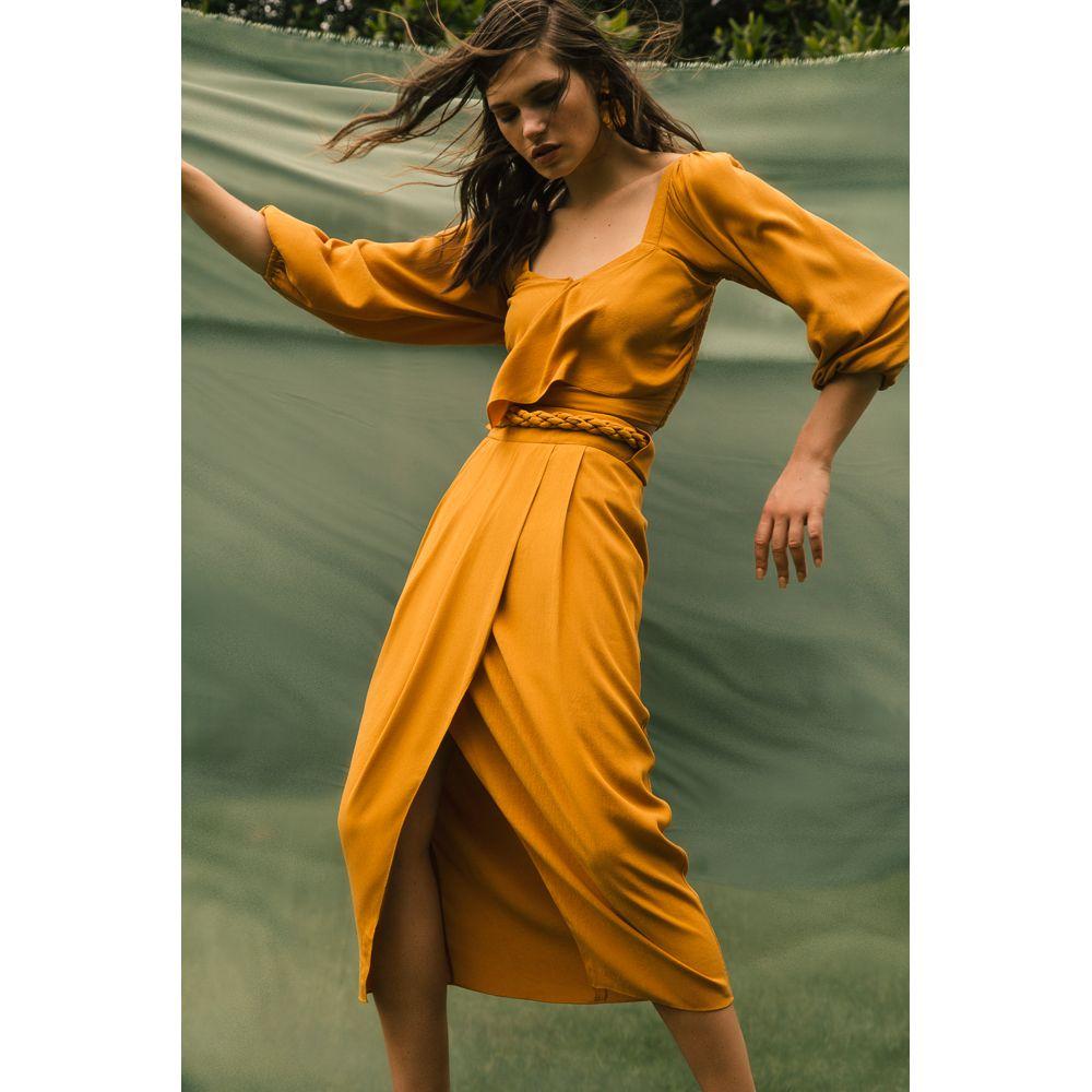 Blusa Amarração Charme - Amarelo Aurum