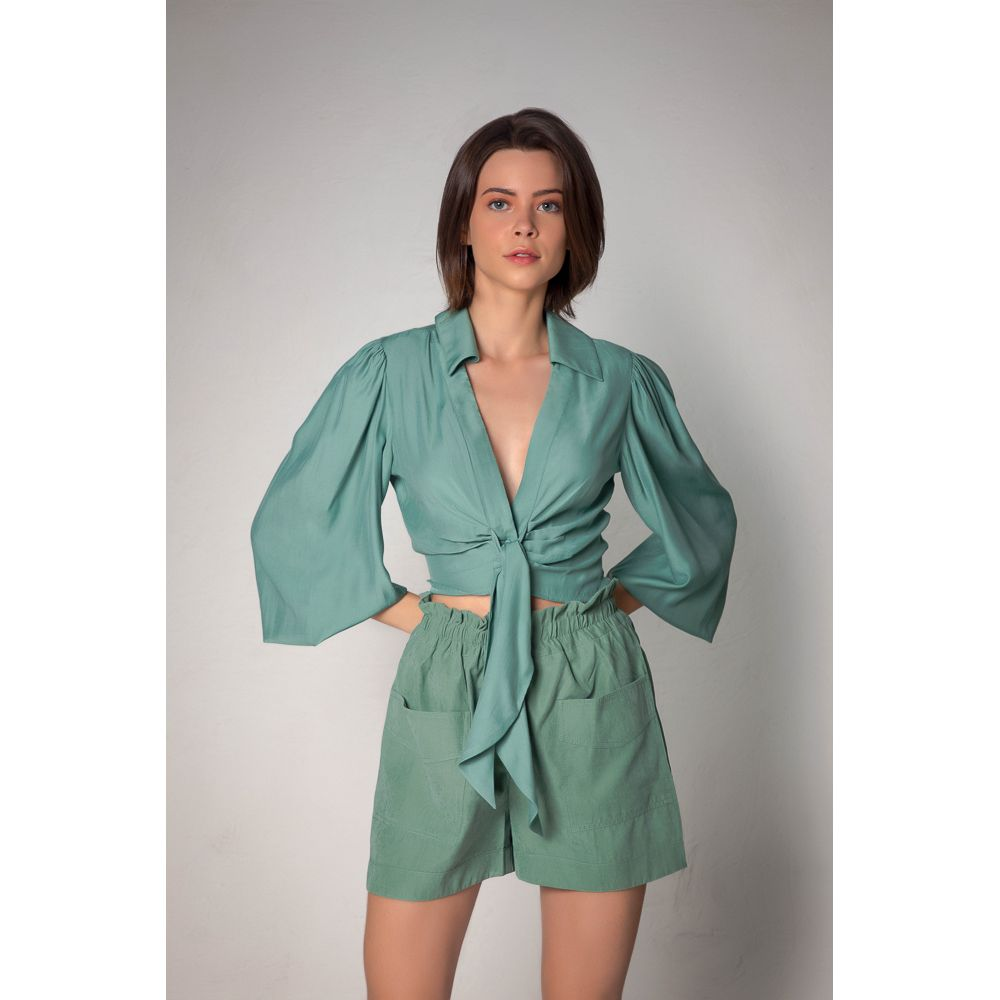 Camisa Amarração - Verde