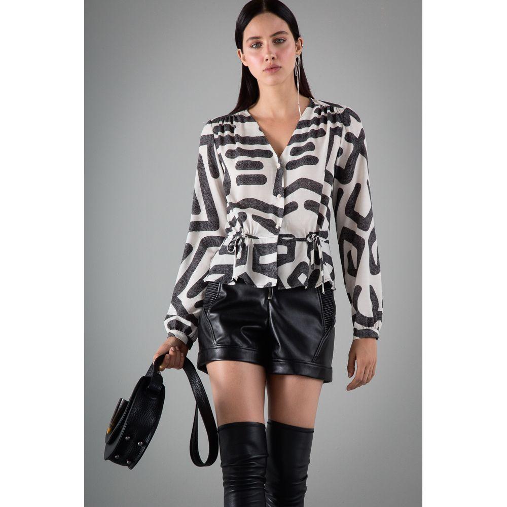 Camisa Print Étnico - P/B