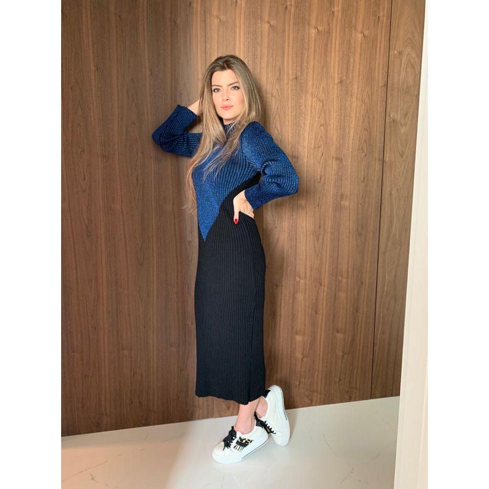 Vestido-Tricot-Bicolor-Lurex-Preto-e-Azul