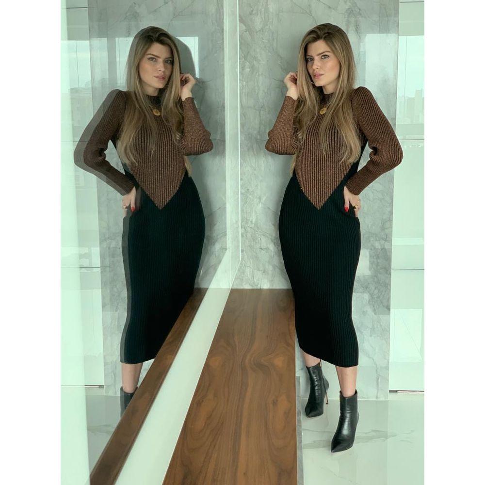 Vestido-Tricot-Bicolor-Lurex-Preto-e-Cobre