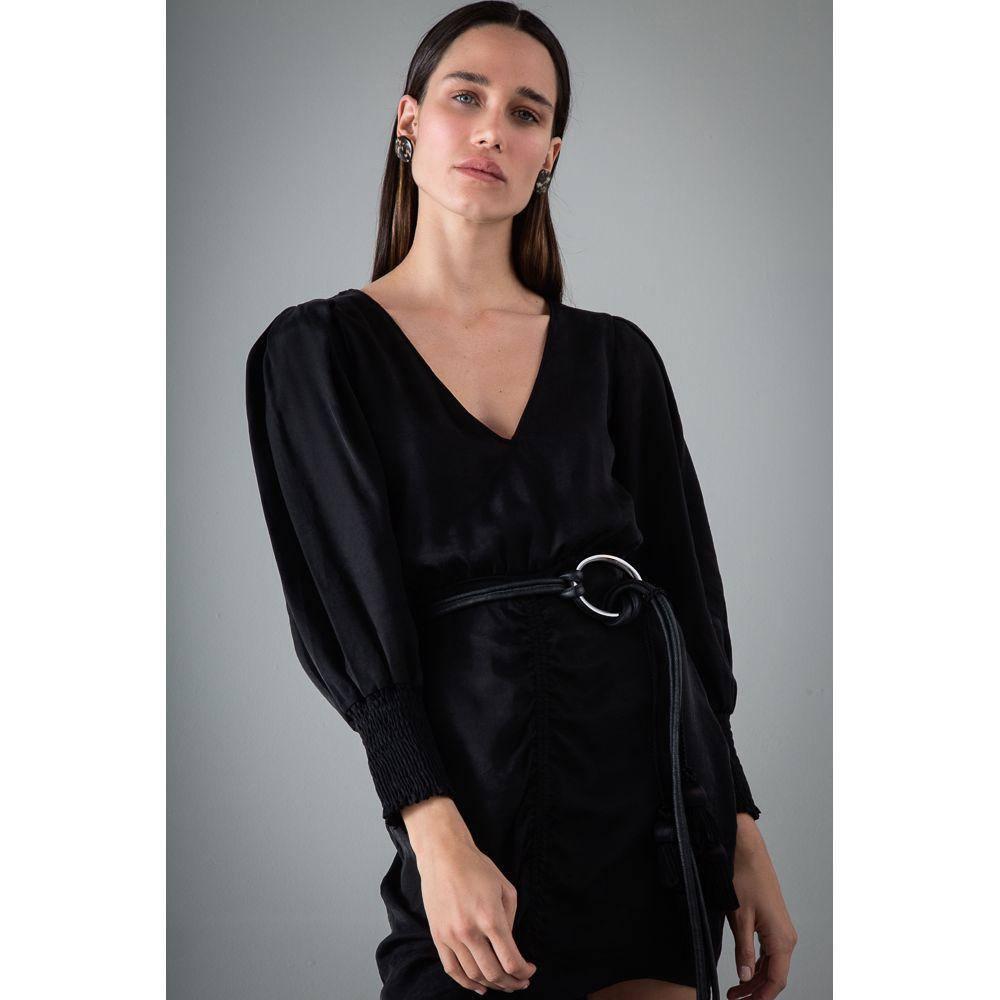 Vestido Viscose Acetinada Wish List - Preto