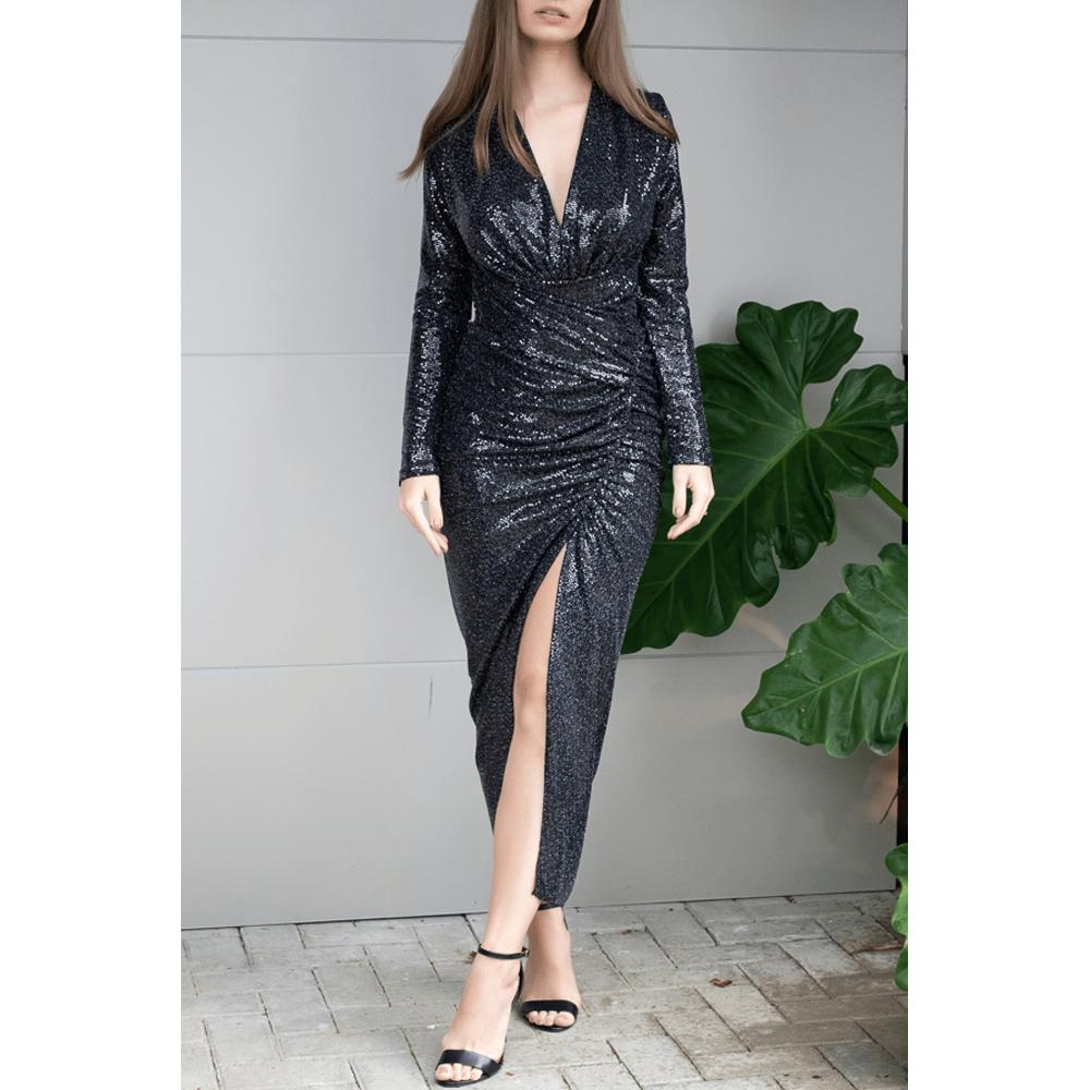Vestido-Pois-Noir