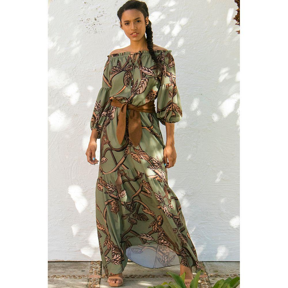 Vestido-Longo-Print-Forest-Animal