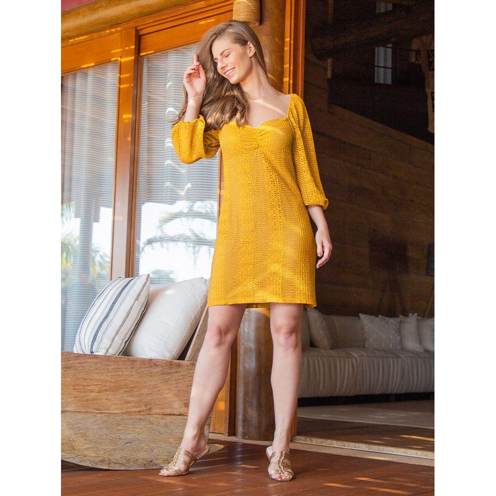 Vestido-Color-Textura---Mostarda