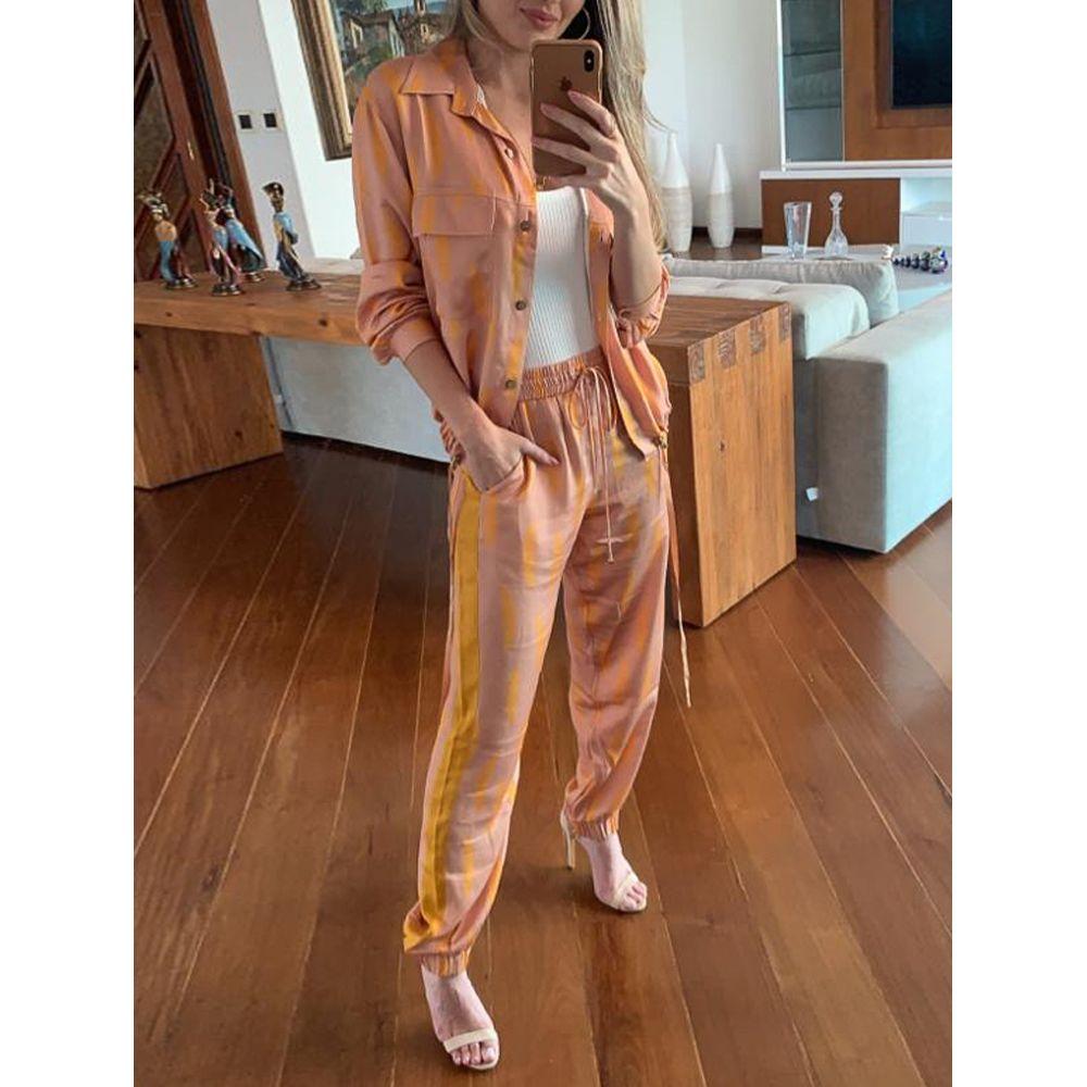 Calça Confort Bicolor - Amarelo Aurum