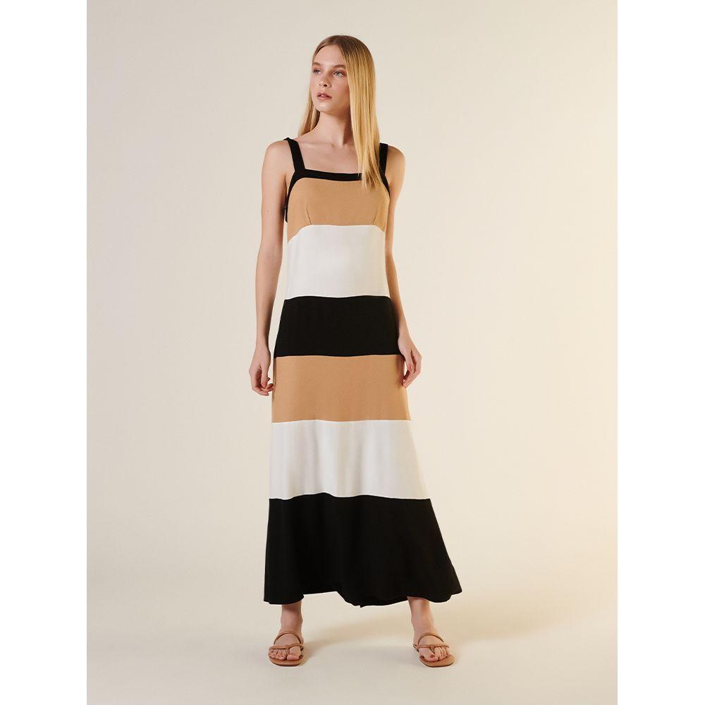 Vestido-Midi-Tricolor-Recortes