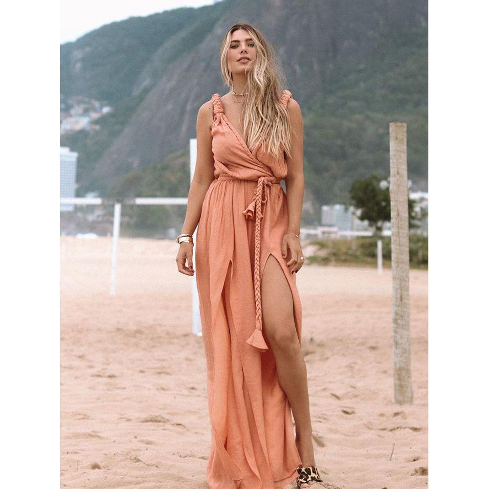 Vestido-Longo-Hand-Made-Pessego