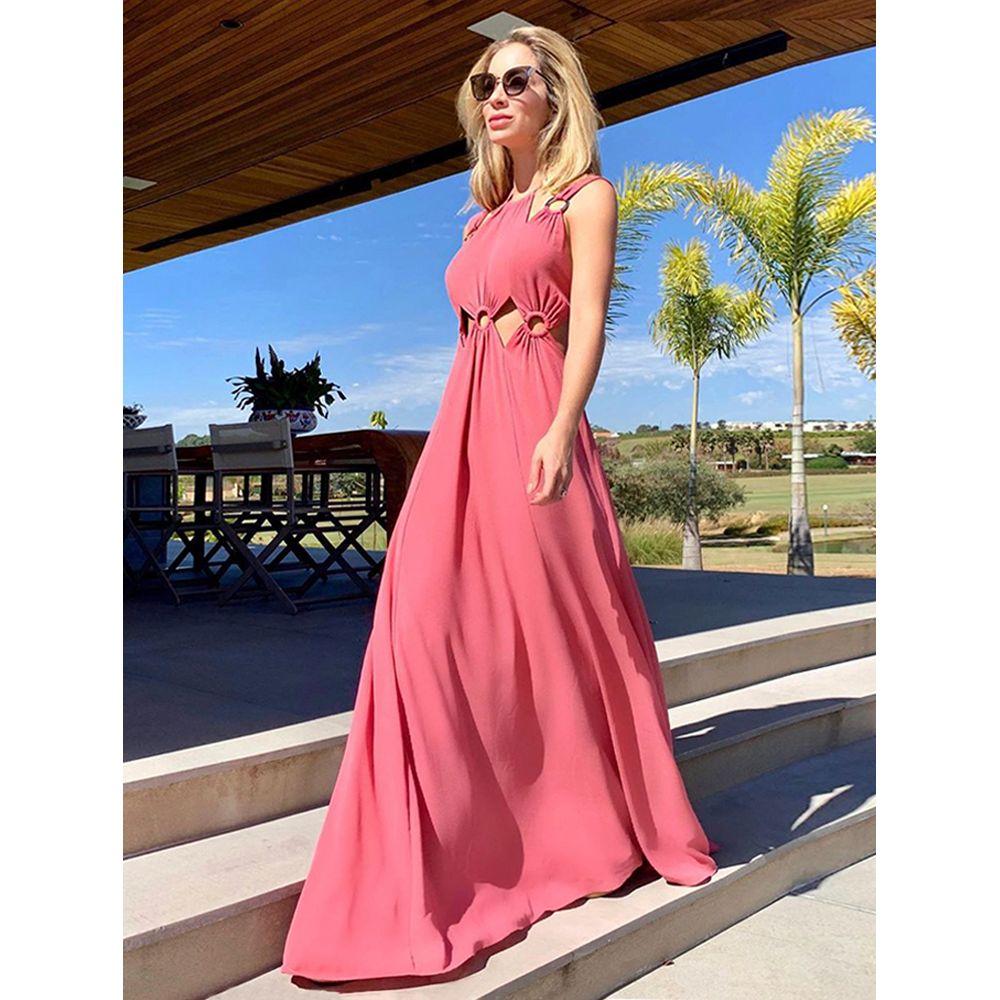 Vestido-Longo-Argolas-Rosa