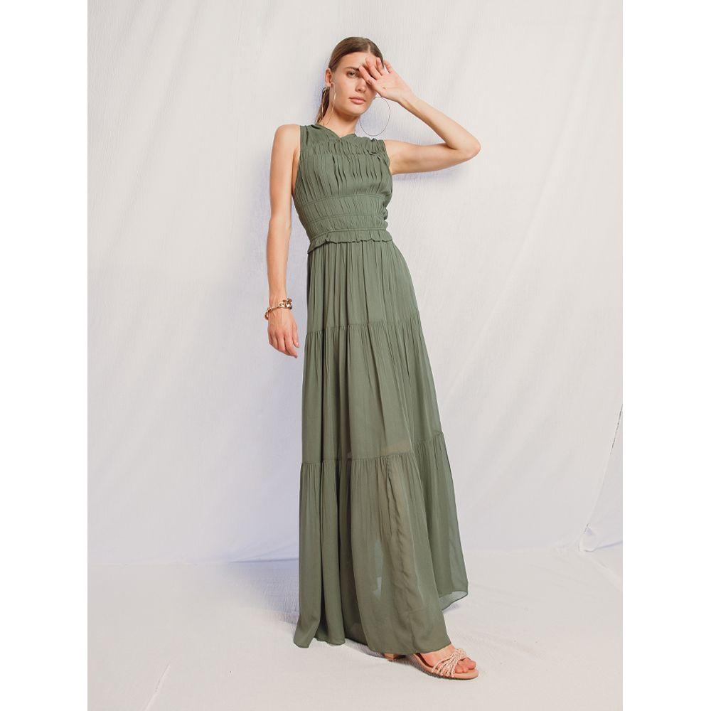 Vestido-Drapeado---Verde-Menta