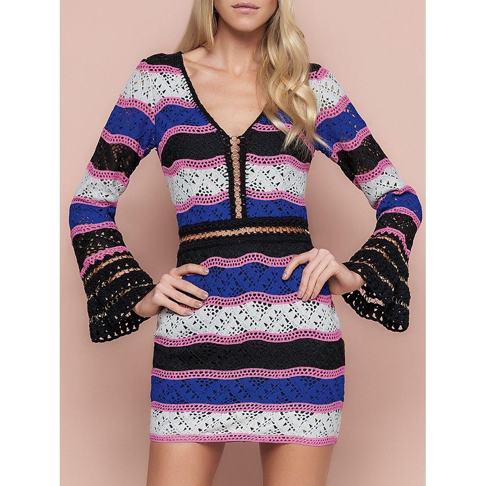 Vestido-Multicolor-Guipure