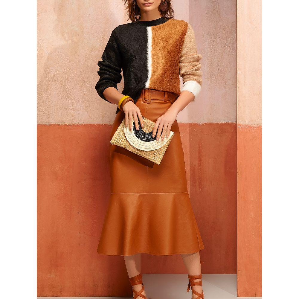 Saia-Midi-Leather---Camelo