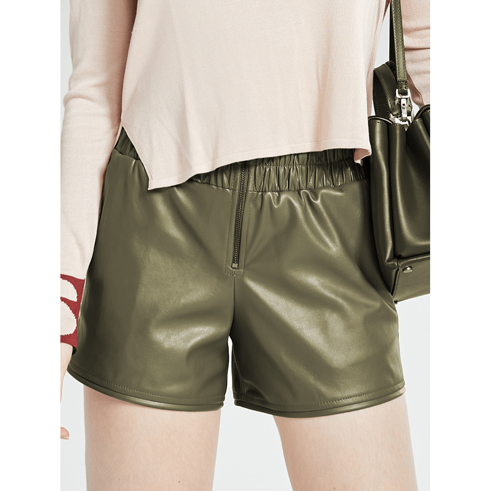 Short-Couro-Olive