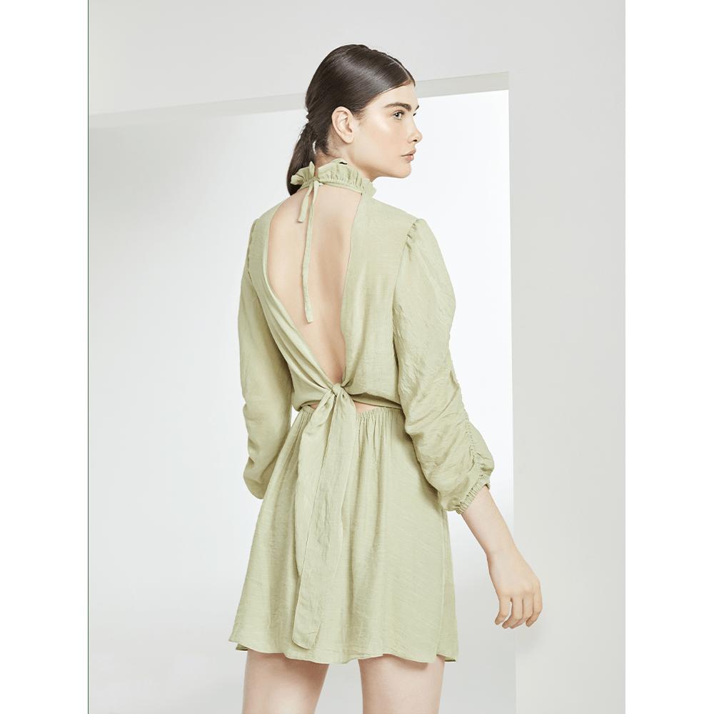 Vestido-Gola-Babados-Verde-Menta