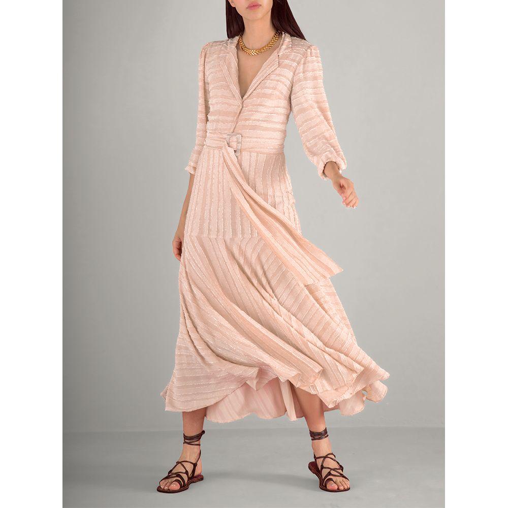 Vestido-Textura-Cinto-Bege