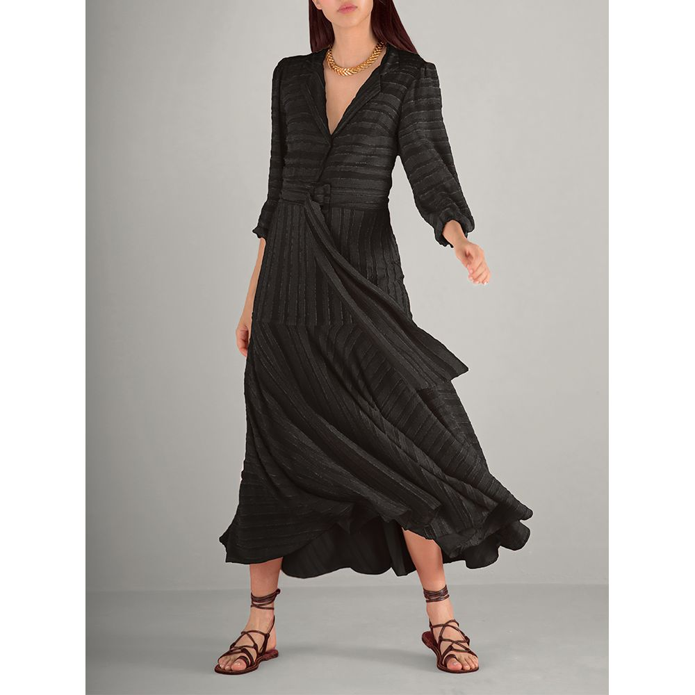 Vestido-Textura-Cinto-Preto