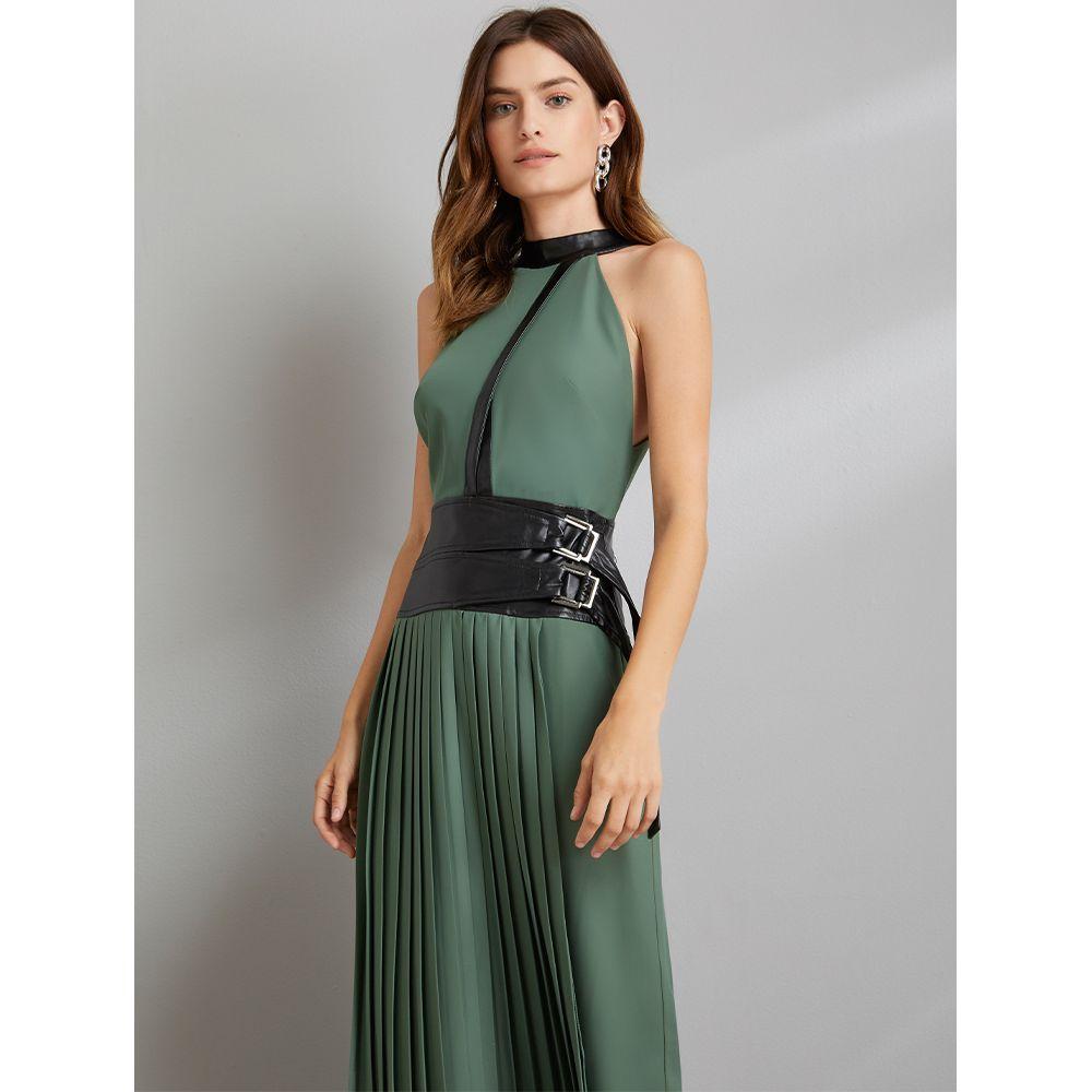 Vestido-Plissado-Special-Verde---Preto