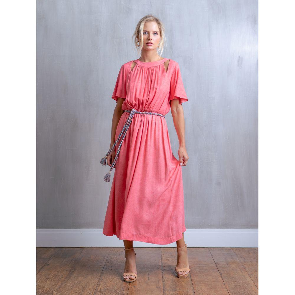 Vestido-Fendas-Cinto-Trancado-Rosa