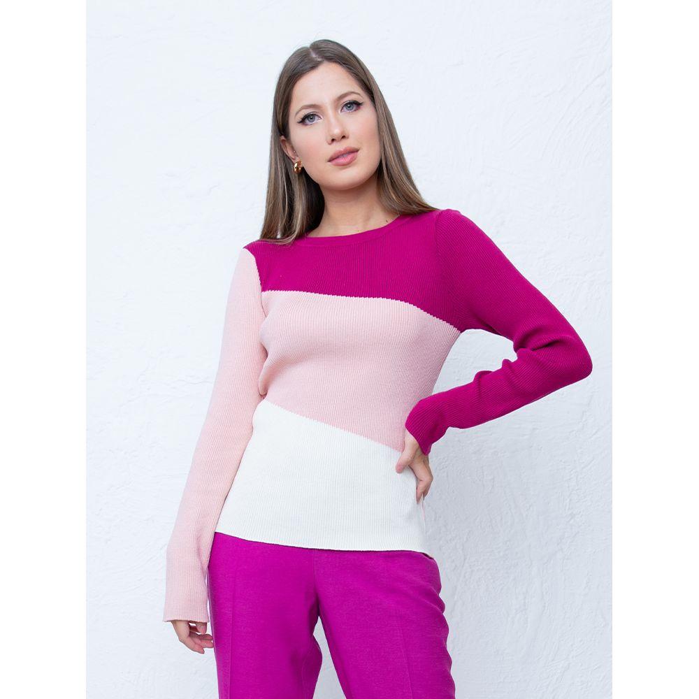 Blusa-Tricot-Reflexo-Rose-Pink-Off-White