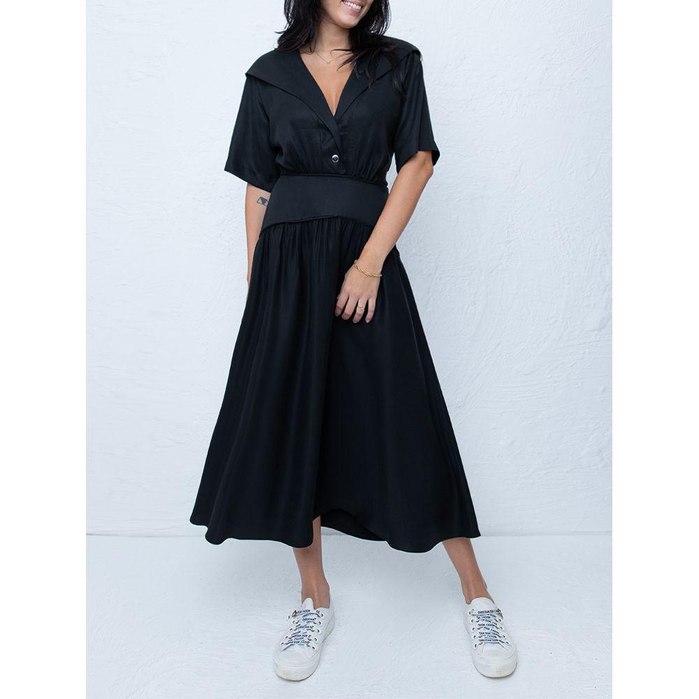 Vestido-Capuz-Preto