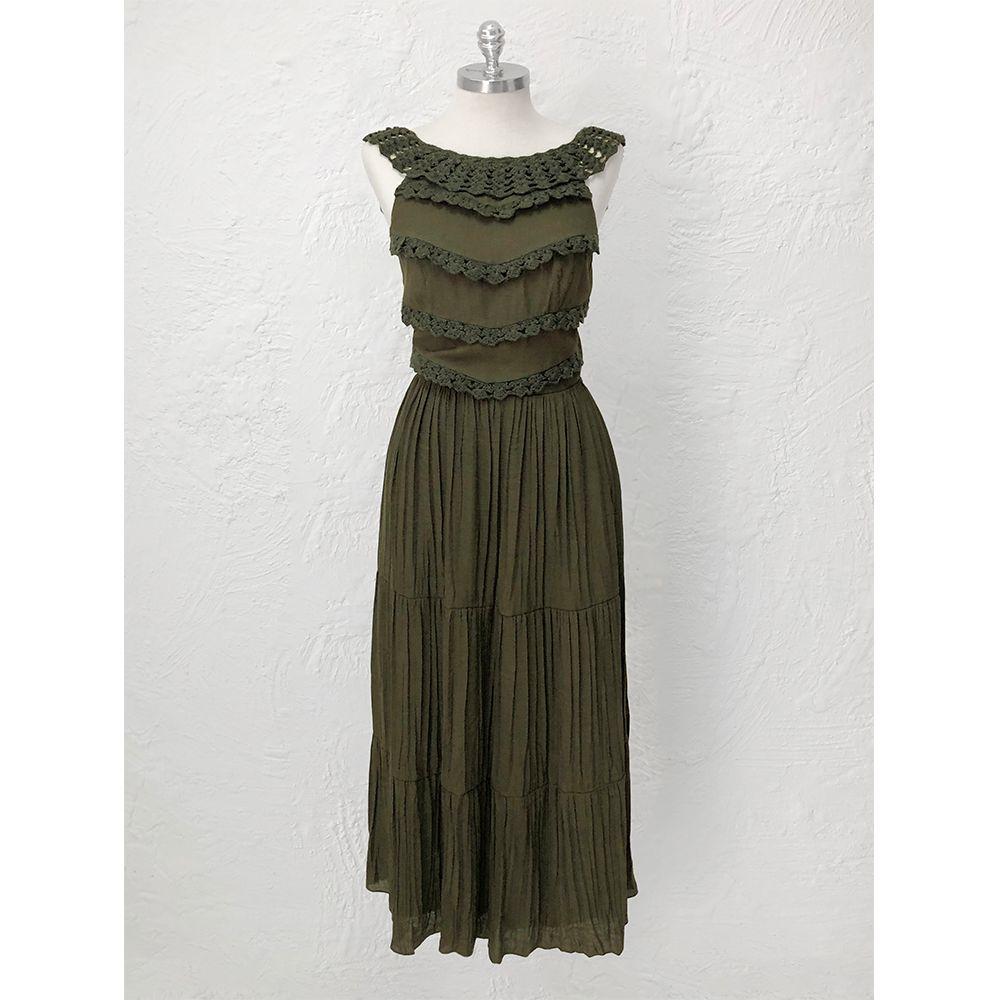 Vestido-Babados-Crochet-Olive