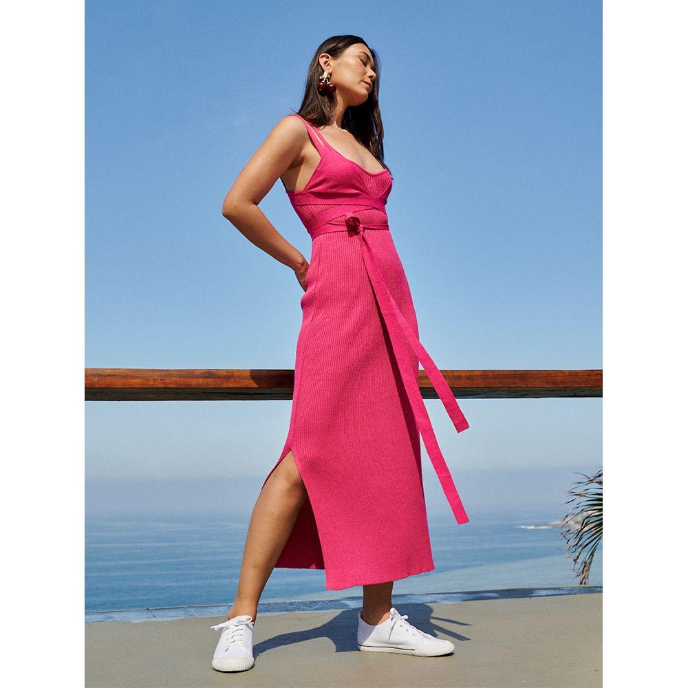 Vestido-Tricot-Casual-Pink