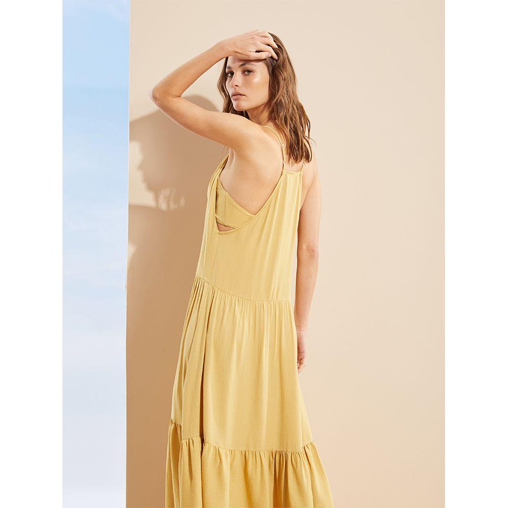 Vestido-Longo-com-Top-Amarelo